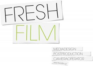 Firmentafel für ein Unternehmen im Gewerbe Film. Mediendesign, Postproduction, Cameraoperator