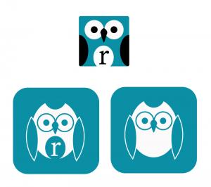 Drei Icon Eulen grafisch umgesetzt von Cornelia Lukas