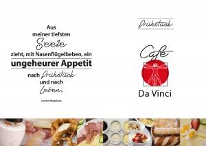 Branding-Design Speißekarte Frühstüclskarte