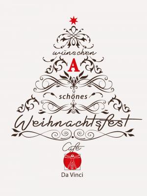 Eine Illustration eines Weihnachtsbaumes, wünschen a schönes Weihnachtsfest ist im Baum eingearbeitet.
