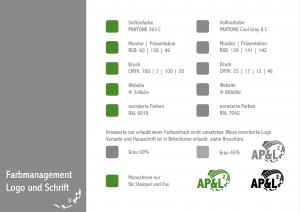 Zeigt das Farbmanagement der Firma, für Weboptimiert und Print.