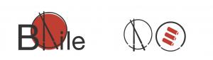 Ein Logo von einem China-Restaurant, das A sind Essstäbchen und dahinter zeigt es ein Teller oder die rote Sonne.
