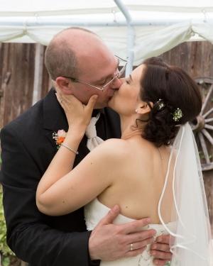 Der Kuss nach dem Ja-Wort, jetzt seid ihr Mann und Frau