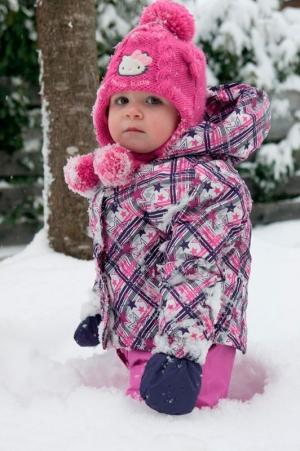 Kinder und Babyfotografie, Kind im Schnee