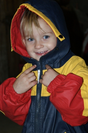 Kinder und Babyfotografie, ein Kinderlächeln.