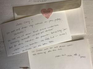 Über diesen wundervollen Brief habe ich mich riesig gefreut!!! DANKE